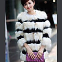 3/4 Sleeve Party/Evening Rabbit And Raccoon Fur Coat (More Colors)