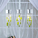 Artistic Crystal Pendant Lights with Green Decorations G4 Bulb Base