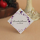 Personalized Rhombus Favor Tag - Purple Round Print (Set of 30)