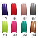 70 Pcs Full Cover Girl's French Acrylic Nails Tips 8 Colors Available