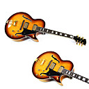 Derulo - (jazz gitaar) high-grade maple hollowbody electirc gitaar met tas / riem / picks / kabel / whammy bar