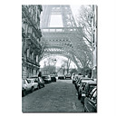 Printed Paris Eiffel Building Canvas Art with Stretched Frame