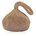 Gorgeous Satin mit Strass Pfirsich Form Abend Handtasche / Kupplungen (More Colors)