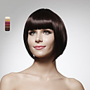 capless 100% cheveux humains courte de style Bob perruque de cheveux 5 couleurs au choix