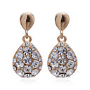 High Quality 18K Gold Plated Crystal Fashion Earrings