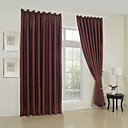 (Two Panels) Classic Solid Polyester Blackout Curtains