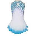 Ornate Diamond Sleeveless Ice Skating Dress With Sequin