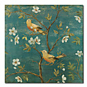 Printed Animal Bird Floral Canvas Art with Stretched Frame