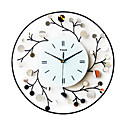 "20"" Stylish Floral Metal Wall Clock"