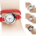 Womens PU Analog Quartz Bracelet Watch (Assorted Colors)