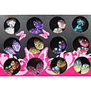 3D Colorful Drops Style Resinic Diamonds Nail Art Nail Decorations Suit