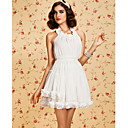 TS Gathered Ruffle Halter Dress