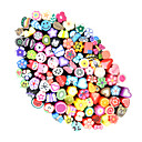 100pcs 3D Cane Stick Rod Sticker Nail Art Decorations(Random Color)