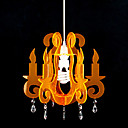 60W Artistic Acrylic Pendant Light with 1 Light in Orange