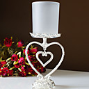 Silver Plated Dangling Heart Candle Holder