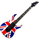 Derulo - High-Grade British Flag Design Electric Guitar with Bag/Strap/Picks/Cable/Whammy Bar