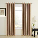 (Two Panels) Stylish Flocking Stripes Blackout Curtains