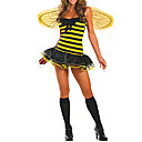 Occupato donna Sexy Halloween Costume Yellow Bee (3 Pezzi)