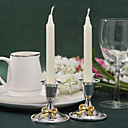 Gorgeous Silver Plated Candle Holder With Bow (Set of 2)