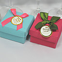 Classic Cuboid Favor Box With Ribbon Bow (Set of 12)