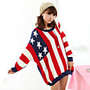 Fashion US Flag Print Loose Knitwear