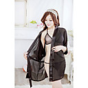Sexy Chiffon Night Robe +T-Back+Underwear Suit