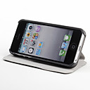 Etui en Cuir avec Support pour iPhone 5