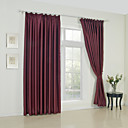 (Two Panels) Solid Red Classic Room Darkening Curtains