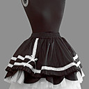 Short Black Cotton White Lace Princess Lolita Rock