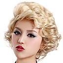 Capless Short Blonde Curly High Quality Synthetic Japanese Kanekalon Wigs