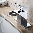 Sprinkle® - by lightinthebox - contemporanea in ottone massiccio cascata rubinetto lavandino del bagno (cromato)