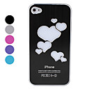 Heart-Shaped Light-Emitting Hard Case for iPhone 4 and 4S (Assorted Colors)