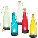 Solar Glass Bottle Light Amber Garden Decor Lamp (White Only)