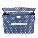 Lovely Cotton Storage Box With Polka Dots