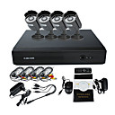 4 Channel CCTV DVR Kit(4 Outdoor IR Camera ,Remote Control DVR)