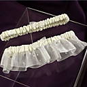 Satin And Organza With Rhinestone Wedding Garters(Set of 2)