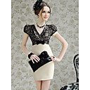 Women's Puff Sleeve Bodycon Dress