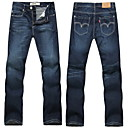 Men's Casual Straight Jeans Pants