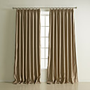 (Two Panels) Classic Solid Embossed Blackout Curtains