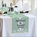 Personalized Reception Desk Table Runner - Green Elegance