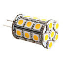 g4 5w 27x5050 SMD 400-450lm 3000-3500K warm wit licht geleid mas gloeilamp (12v)