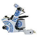 Azul e Branco Porcelana Bobina Machine Gun Tatoo para forro e sombreamento