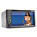 6.2 polegadas 2 Din Car DVD Player com Bluetooth, GPS, iPod, RDS, SD / USB, controle de volante, tela de toque