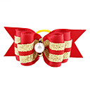 Golden Ribbon Style Tiny Rubber Band Hair Bow for Dogs Cats