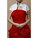 Elegant Satin/Lace Short Sleeve Women's Evening/Wedding Jacket/Wrap With Flowers (More Colors)