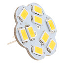 G4 4.5W 9x5630 SMD 400-430LM 3000-3500K Warm Wit Licht Lotus vormige verticale pen LED Spot lamp (12V)