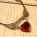 Frauen vintage heart wing necklace