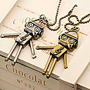 Women's Robot Diamond Vintage Necklace