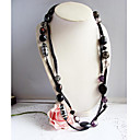Vintage Leren Dames Bib Necklace