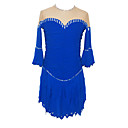 Girl's Figure Skating Dress (Dark Blue)